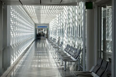 Airport waiting room, traveler area Stock Image
