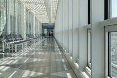 Airport, waiting room, traveler area Stock Image
