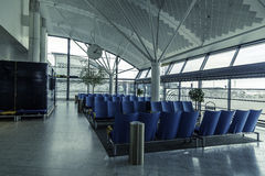 Airport waitting area Stock Image