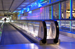 Airport walkway Royalty Free Stock Image