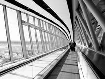 Airport walkway stock image