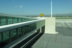 Airport walkway Royalty Free Stock Image