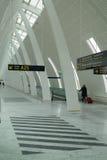 Airport walkway. Interior of airport walkway at Copenhagen Airport Stock Images