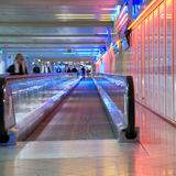Airport walkway pink Stock Photography