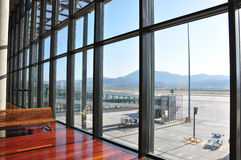 Airport wall of glass Stock Images