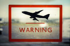 Airport Warning Sign Stock Photos