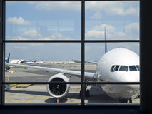 Airport Window Stock Image