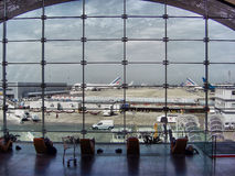 Airport window Royalty Free Stock Photography