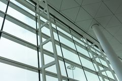 Airport Window Looking up and out stock photography