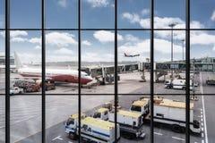 Airport window scene Stock Image