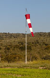 Airport windsock showing calm and sunny weather. Stock Photos