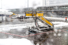 Airport in Winter Royalty Free Stock Photos