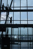 Airport. Workers doing some repair at an airport Royalty Free Stock Photo