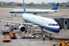 Airport Working Scene In Shanghai, China Royalty Free Stock Photo
