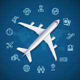 Airport World Travel Concept. Vector Royalty Free Stock Photography