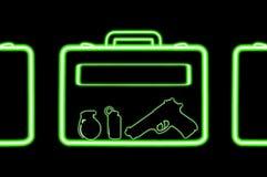 Airport xray scan bag as terrorism concept Stock Photos