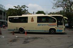 Airportexpress bus. Airport bus, from suvarnabhumiairport to city Royalty Free Stock Photo