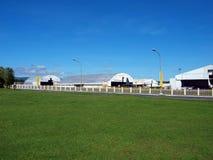 AirportGreenHangars Lizenzfreies Stockfoto