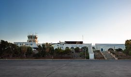 Airporti international d'île de Santorini Photographie stock libre de droits