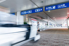 Airports in the elevator Royalty Free Stock Image
