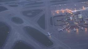 Airports, Planes, Airplanes, Terminals. Stock video of an airport and runways stock footage