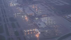 Airports, Planes, Airplanes, Terminals. Stock video of an airport and runways stock video
