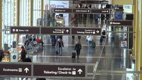 Airports, Planes, Airplanes, Terminals. Stock video of an airport terminal stock footage