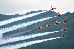 Airpower 2011 air show in Zeltweg, Austria Royalty Free Stock Photography