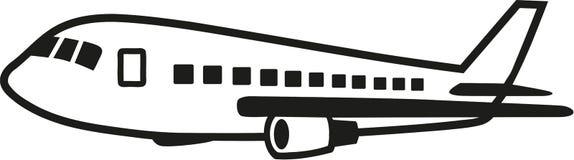 Airrcraft de cruzamento com detalhes ilustração stock