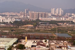 Airscape the City of zhuhai Royalty Free Stock Images