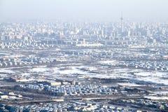 Airscape da cidade de Beijing após a neve Imagem de Stock Royalty Free