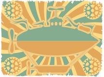 airship красит просто шестерен фантазии краев грубое Стоковые Фото