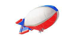 Airship. An airship on the white background Stock Images