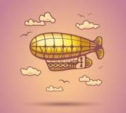 Airship abstract, stylization, vector Stock Image