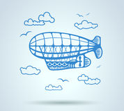 Airship abstract, stylization, vector Royalty Free Stock Image
