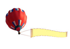 airship with blank banner Stock Image