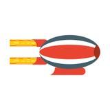 Airship blimp cartoon Royalty Free Stock Images