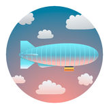 Airship Detailed Illustration Royalty Free Stock Photography