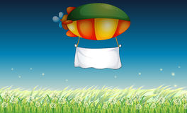 An airship with an empty banner Royalty Free Stock Image