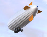 Airship flying in the sky Stock Images
