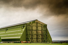 Airship Hanger. At Cardington (UK). Used to house the R101 Hydrogen Airship Stock Photography