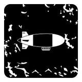 Airship icon, grunge style Stock Photos