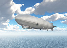Airship over the sea Stock Image