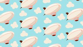 Airship seamless pattern. vector illustration