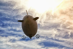 Airship in the sky Stock Photography