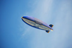The airship in the sky of Los Angeles. In the sky of Los Angeles flew this airship Stock Photos