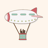 Airship theme elements vector,eps Royalty Free Stock Photography