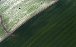 Airshot dos campos Fotografia de Stock