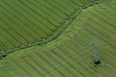 Airshot dos campos Foto de Stock Royalty Free