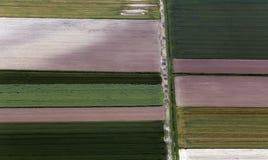 Airshot von Feldern Lizenzfreies Stockbild